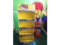 LEGO THE MOVIE CARDBOARD STAND UP TOY DISPLAY, 5ft TALL