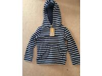 John Lewis age 3 striped hoody. Brand new with tags
