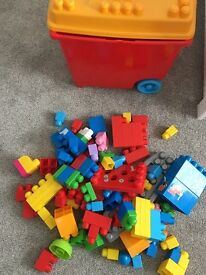 Job lot of Mega Blocks & Storage Box