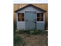 Wooden Wendy house play house kids