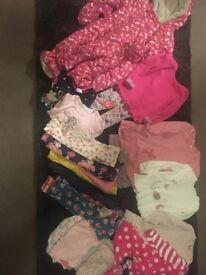 Bundle of baby girls clothes 9-12 months