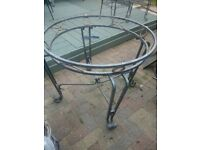 Metal and glass table and chair set