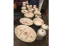 Marks & Spencer Damson tea set, dinner set and matching tableware