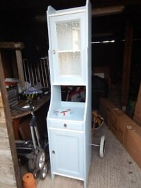 Tall blue cabinet