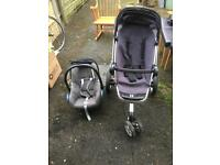 Quinny buzz 3 wheel pushchair / stroller