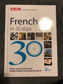 Learn French in 30 days course workbook•• BRAND NEW