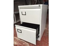 Two drawer metal filing caninet