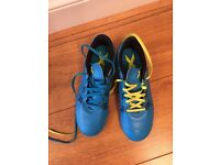 Boys Adidas blue trainers size 4.5. Worn once.