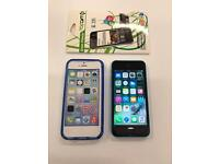 iPhone 5C Unlocked Blue with case
