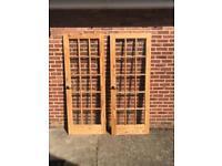 wooden glass doors