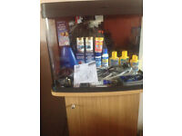 40 Litre Fish Tank and Stand with various accessories.