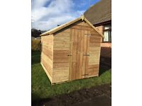 6FT x 4FT Wooden Garden Shed Tanalised *Top Quality* - 10 year anti rot timber T&G shiplap overlap
