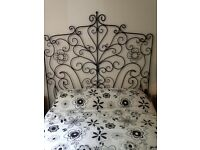 Black metal ornate headboard