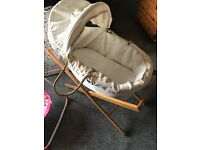 Neutral unisex Moses basket for sale