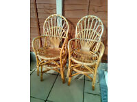 Bamboo Garden Table And Four Chairs