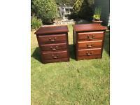 Pair mahogany bedsides (can deliver)