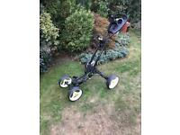 Foldable golf trolley