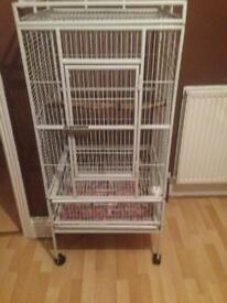 White parrot cage for sale £30ono