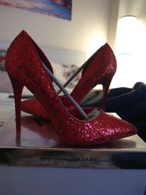 Red Sparkly Heels BRAND NEW!