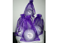 Large Handmade Lavender Sceneted Lilac Bath Bomb Approx 100g Each