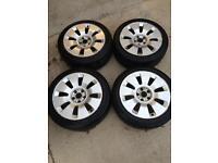 """Audi 17"""" 5x112 wheels alloys winter tyres VW"""