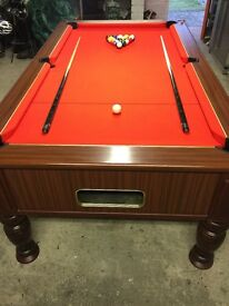 Limited edition Riley genesis slated bed 7 x 4 Pool table