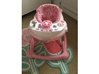Graco pink baby walker