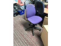 Purple Adjustable Office Computer Chair