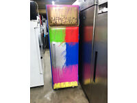 AGA ( WILLIAMS) COMMERCIAL SINGLE DOOR FREEZER- CUSTOM PAINTED IN MULTI COLOR PAINTED MULTI COLOR