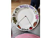 Personalised Hand Painted Slimming World inspired portion plates
