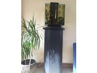 46 L fish tank + fish + hand made stand + accessories for sale