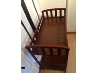 Dark Wood Baby Changing Table