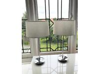 X2 cream canvas and chrome lamps from Next