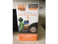 Stick & Go Universal Car Phone Mount (New, Boxed)