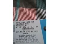 3 x beyonce tickets
