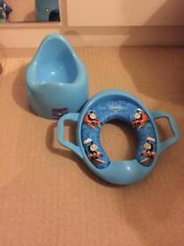 Thomas and friends potty and potty training seat