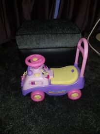 Girls toy ride on