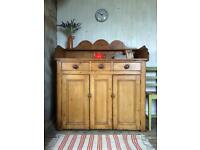 Victorian Pine Farmhouse Dresser Sideboard free local delivery