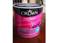 Brand New Sealed Paint Tins by Crown 2.5l 4 tins or can sell individually