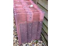 Roof Tiles aprox 136 tiles . Free to collector