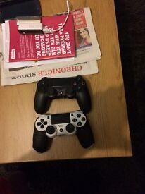 white ps4 +2 controlers mint condition swap with xbox