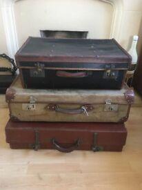 Retro vintage trunks filing cabinet vanity cases