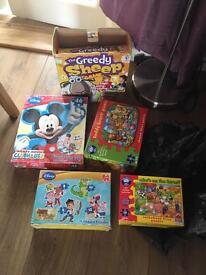 Kids puzzles, games bundle