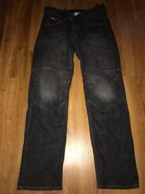 RST Kevlar Black Motorcycle Jeans - Size W34 Regular