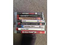 Ps3 games x 8 - call of duty, fight night, red dead dedemption