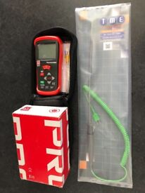 New digital thermometer read out and new K type probe 300mm unopened calibrated.