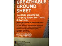 ADVENTURIDGE BREATHABLE GROUNDSHEET 4.5M X 2.5M Many uses!
