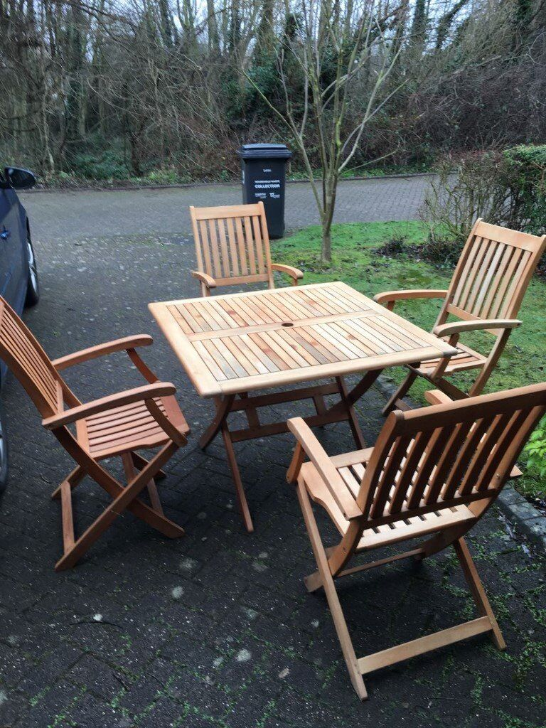 garden table 4 chairs umbrella in good conditions all for 13000 - Garden Furniture Kings Lynn