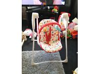 Graco baby swing used no more than 3 times