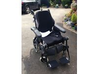 rea azalea assist tilting wheelchair with head and foot rests